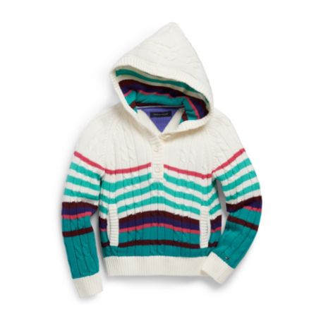 Image for STRIPE HOODED SWEATER from Tommy Hilfiger USA