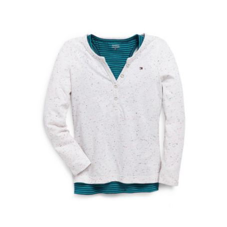 Image for DOUBLE LAYER HENLEY from Tommy Hilfiger USA