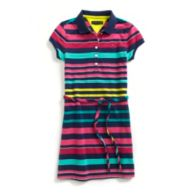 MULTI STRIPE POLO DRESS $24.99
