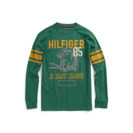 Image for FOOTBALL GRAPHIC TEE from Tommy Hilfiger USA