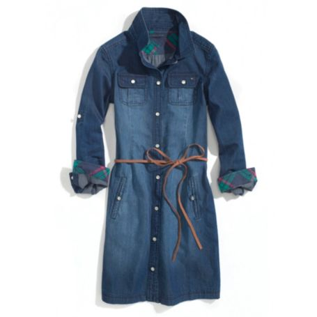 Image for DENIM SHIRT DRESS from Tommy Hilfiger USA