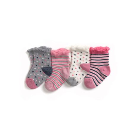Image for INFANT FASHION 4 PACK SOCKS from Tommy Hilfiger USA