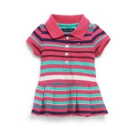 MULTI STRIPE POLO DRESS $36.50
