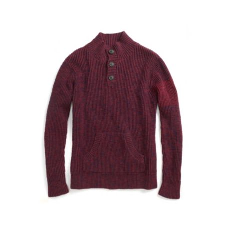 Image for TWEED MOCK NECK SWEATER from Tommy Hilfiger USA