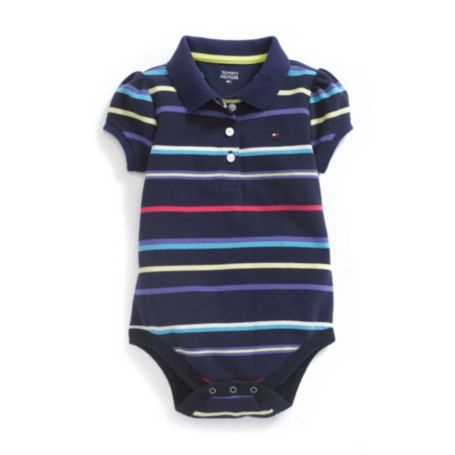 Image for BOLD STRIPE POLO BODYSUIT from Tommy Hilfiger USA