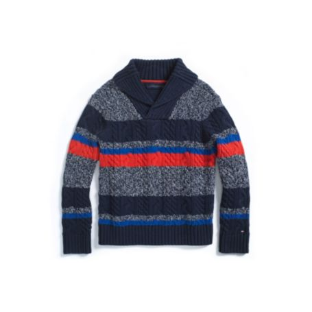 Image for SHAWL COLLAR SWEATER from Tommy Hilfiger USA