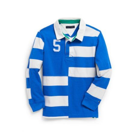 V-NECK RUGBY STRIPE SWEATER