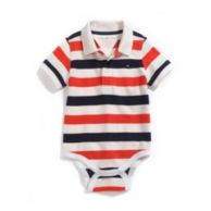 SIMPLE STRIPE POLO BODYSUIT $20.00