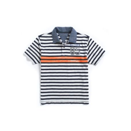 Image for ORANGE STRIPE POLO from Tommy Hilfiger USA