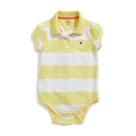 Image for SIMPLE STRIPE POLO BODYSUIT from Tommy Hilfiger USA