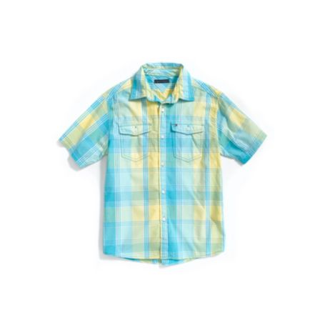 Image for BRIGHT PLAID CAMP SHIRT from Tommy Hilfiger USA