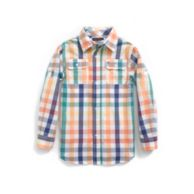 MULTI COLORED PLAID ROLL UP SHIRT $36.50