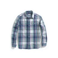 ROLL-SLEEVE PLAID CAMP SHIRT $36.50