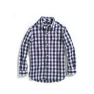 GINGHAM ROLL-SLEEVE SHIRT $26.99