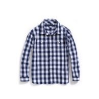 GINGHAM ROLL-SLEEVE CAMP SHIRT $32.50