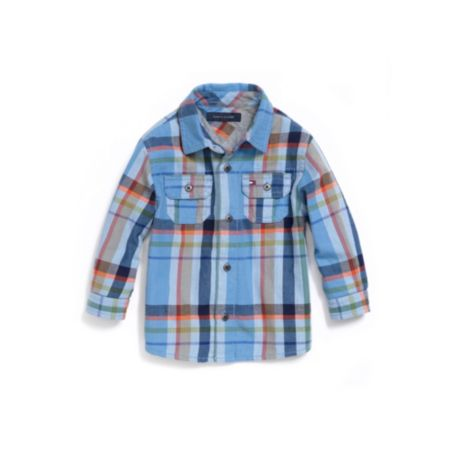 Image for JERSEY-LINED PLAID SHIRT from Tommy Hilfiger USA