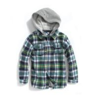 SURFER PLAID HOODED SHIRT $29.99