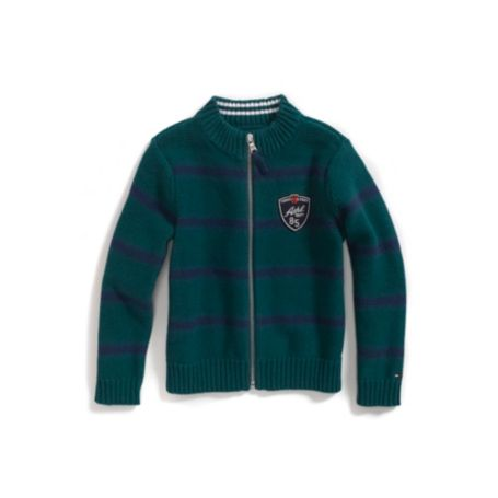 Image for STRIPED FULL ZIP SWEATER from Tommy Hilfiger USA