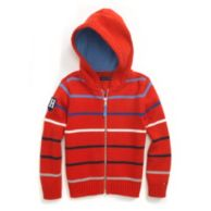 STRIPED HOODED SWEATER $39.50