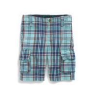 PLAID CARGO SHORT $34.99