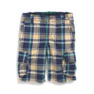 CARGO PLAID SHORT $38.50