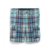 PLAID CARGO SHORT $26.99