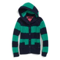 CABLEKNIT HOODED SWEATER $42.50
