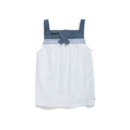 Image for CHAMBRAY TRIM TOP from Tommy Hilfiger USA