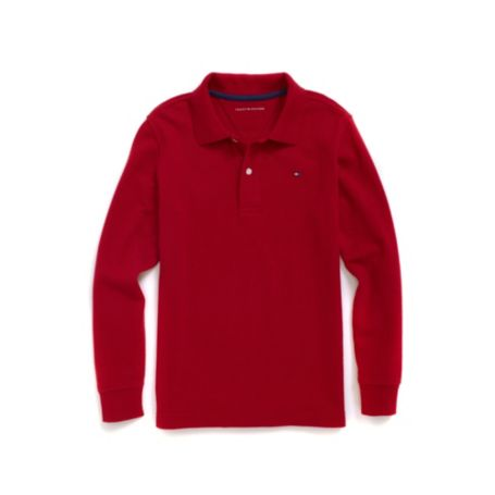 Tommy Hilfiger Classic Long-Sleeve Polo - Classic White