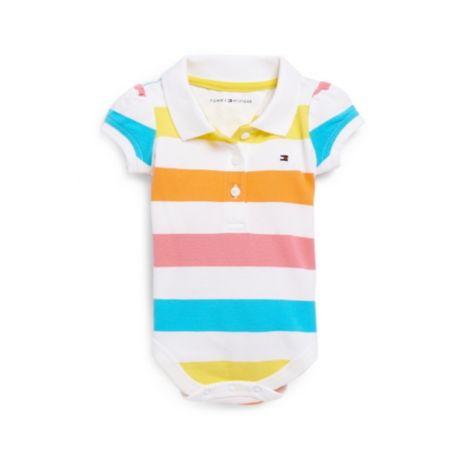 Image for BRIGHT STRIPE POLO ONESIE from Tommy Hilfiger USA