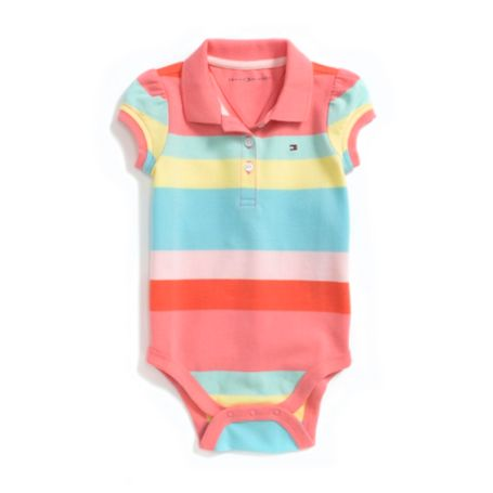 Image for CANDY STRIPE POLO ONESIE from Tommy Hilfiger USA