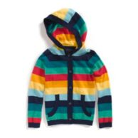 STRIPE HOODED CARDIGAN $36.50
