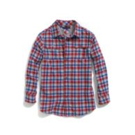 JERSEY-LINED PLAID SHIRT $39.50