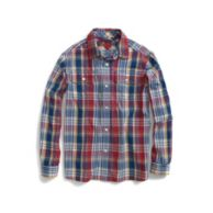 UPSTATE ROLL-SLEEVE CAMP SHIRT $36.50