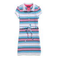 CANDY STRIPE POLO DRESS $36.50