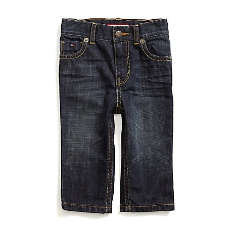 Tommy Hilfiger Straight Jeans - Auburn Tommy Hilfiger Little Boys' Jean. Our Jeans Are Washed For Softness And Feature Ready-Made Wrinkles For That Worn-'Em-Forever Vibe.• 98% Cotton, 2% Elastane. • Internal Adjustable Waist Tabs, Side Slash And Button Back Pockets, Tiny Tommy Flag On Hip.• Machine Washable. • Imported.