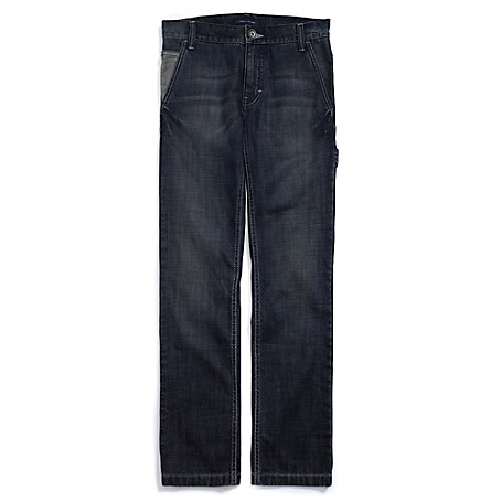 Tommy Hilfiger Slim Straight Jeans - Dromon Tommy Hilfiger Big Boys' Jean. For Dapper Dudes, Our Skinny Jean With Rough-Around-The-Edges Styling. Internal Adjustable Waist Tabs Offer A Perfect Fit From The Start With Room To Grow.• 100% Cotton. • Sits Below Waist, Straight Leg Opening.• 5-Pocket Styling, Tiny Tommy Flag On Hip. • Machine Washable. • Imported.