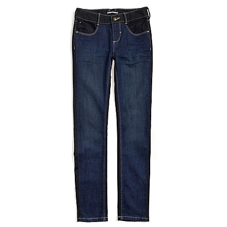 Tommy Hilfiger Skinny Jeans - Fez Wash + Marshall Wash Tommy Hilfiger Big Girls' Jean. Our Skinny Jeans Aren't Just Cool, Extra Stretch Makes Them Totally Comfortable Too. Designed With The Same Attention To Detail As The Jeans We Make For Mom, They're Just Smaller.• 98% Cotton, 2% Lycra.• Internal Adjustable Waist Tabs, Ready-Made Creases, Tiny Tommy Flag At Hip.• Machine Washable. • Imported.