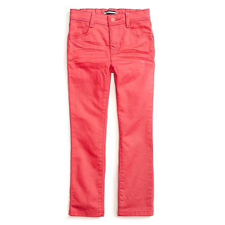 Tommy Hilfiger Colored Jeans - Rouge Red Tommy Hilfiger Little Girls' Jean. Our Colored Jeans Aren't Just Cool, Extra Stretch Makes Them Totally Comfortable Too. Designed With The Same Attention To Detail As The Jeans We Make For Mom, They're Just Smaller. • 98% Cotton, 2% Elastane.• Internal Adjustable Waist Tabs, Ready-Made Creases, Tiny Tommy Flag On Back Pocket. • Machine Washable.• Imported.