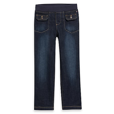 Tommy Hilfiger Pull-On Jeans - Fez Wash Tommy Hilfiger Little Girls' Jean. Denim Cuteness In A Small Size That's Huge On Comfort. The Best Part? An Elastic Waistband That Makes Dressing Herself A Breeze.• 98% Cotton. 2% Lycra. • Elastic Waist. • Machine Washable. • Imported.