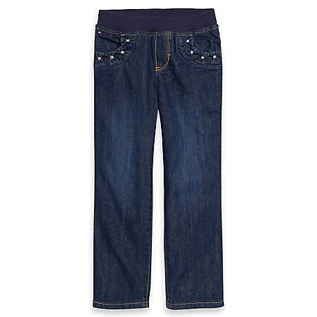 Tommy Hilfiger Final Sale- Pull-On Jeans - Connie Wash Tommy Hilfiger Little Girls' Jean.• Outlet Exclusive Style.•100% Cotton. •Machine Washable.•Imported.