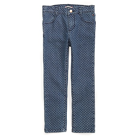 Tommy Hilfiger Final Sale- Dot Skinny Jeans - Fredo Wash Tommy Hilfiger Little Girls' Jean.• Outlet Exclusive Style.• 100% Cotton.• Internal Adjustable Waist Tabs.• Machine Washable.• Imported.