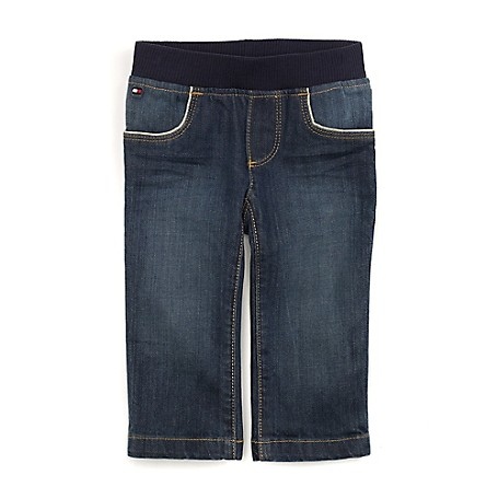 Tommy Hilfiger Final Sale- Pull-On Jeans - Marshall Wash Tommy Hilfiger Little Girls' Jean.•Outlet Exclusive Style.•98% Cotton, 2% Elastane. •Pull-Up Elastic Waist. •Machine Washable.•Imported.