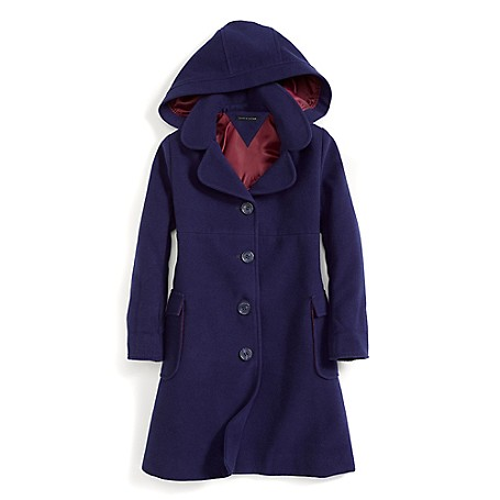 Tommy Hilfiger Fashion Coat - Crown Navy Tommy Hilfiger Big Girls' Coat.•Outlet Exclusive Style.•88% Synthetic, 10% Viscose, 2% Elastane. •Machine Washable.•Imported.