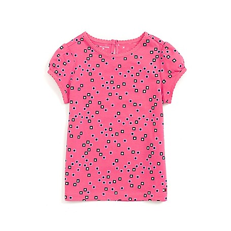 Tommy Hilfiger Fashion Tee - Hot Pink/Multi Tommy Hilfiger Little Girls' Tee.• Outlet Exclusive Style.•100% Cotton.•Machine Washable.•Imported.