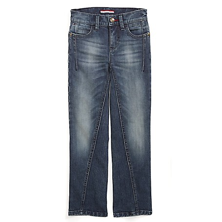 Tommy Hilfiger Final Sale- Straight Jeans - Beatle Tommy Hilfiger Big Boys' Jean.• Outlet Exclusive Style.• 100% Cotton.• Internal Adjustable Waist Tabs.• Machine Washable.• Imported.