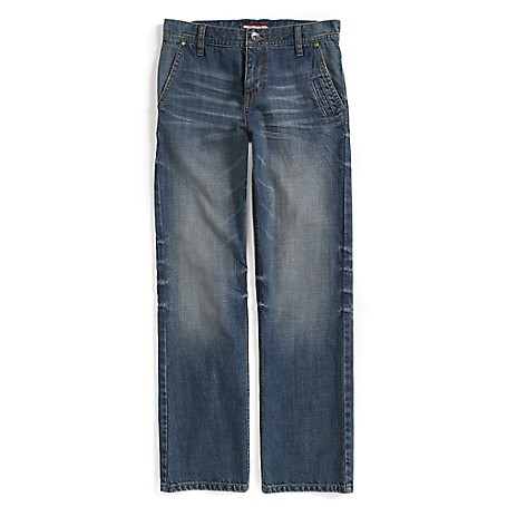 Tommy Hilfiger Final Sale- Straight Jeans - Taxi Tommy Hilfiger Big Boys' Jean.•Outlet Exclusive Style.•100% Cotton. •Internal Adjustable Waist Tabs. •Machine Washable.•Imported.