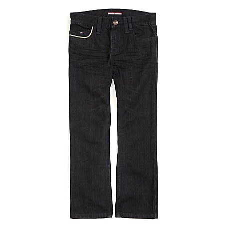 Tommy Hilfiger Final Sale- Straight Jeans - Richard Tommy Hilfiger Big Boys' Jean.•Outlet Exclusive Style.•100% Cotton. •Internal Adjustable Waist Tabs. •Machine Washable.•Imported.