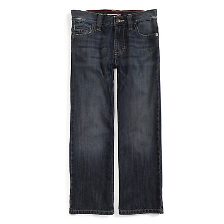 Tommy Hilfiger Final Sale- Loose Fit Jeans - Jonah Tommy Hilfiger Big Boys' Jean.•Outlet Exclusive Style.•100% Cotton. •Internal Adjustable Waist Tabs. •Machine Washable.•Imported.