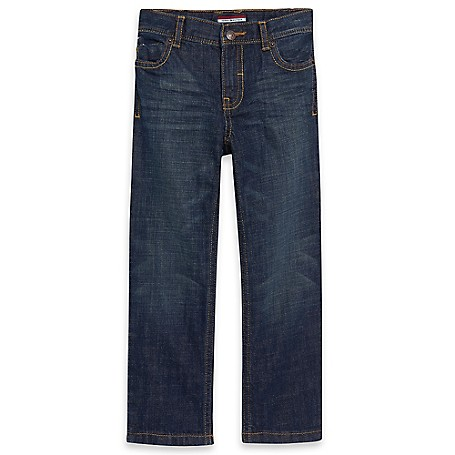 Tommy Hilfiger Final Sale- Straight Jeans - Auburn Tommy Hilfiger Little Boys' Jean.• Outlet Exclusive Style.• 100% Cotton.• Internal Adjustable Waist Tabs.• Machine Washable.• Imported.